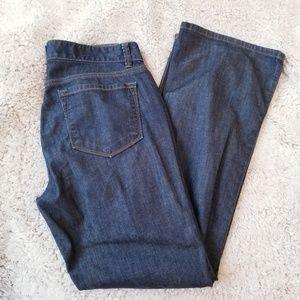 LOFT Modern Curvy Boot Cut Jean's Dark Wash